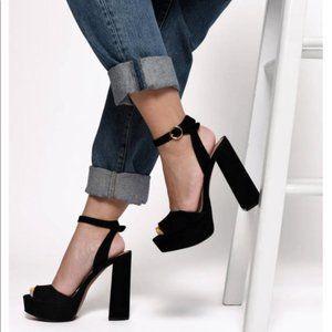 STEVE MADDEN New Suede Jillyy ankle strap heels